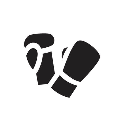 Black And White Boxing Glove Symbol