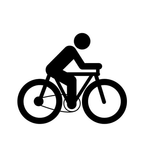 Black And White Cycling Symbol