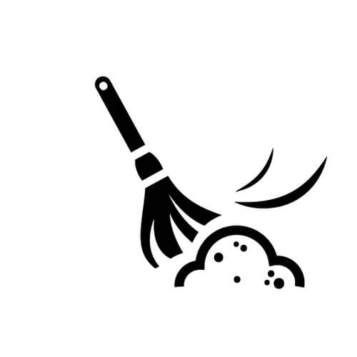 Black And White Dusting Symbol