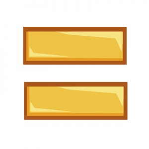 Yellow Equals Sign On White Background