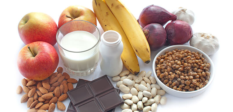Healthy Foods Including Bananas, Dark Choclate And Oats