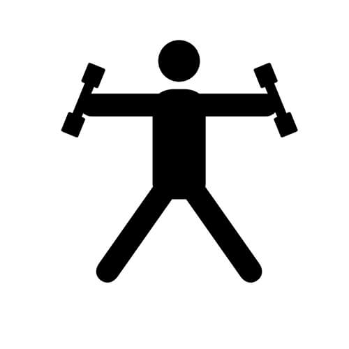 Person Lifting Weights Symbol