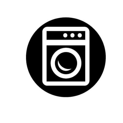 Black and White Washing Machine Symbol