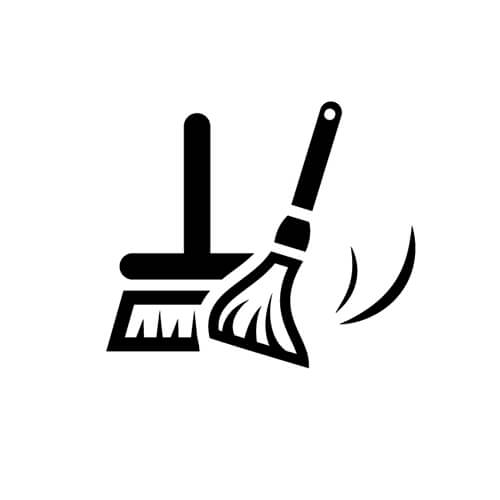 Symbol Of Mop And Broom