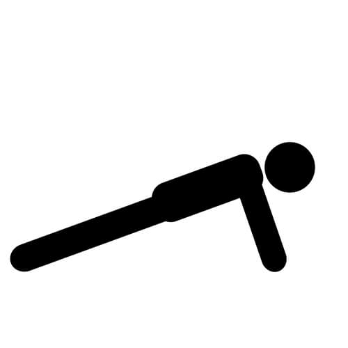 Symbol Of Person Planking