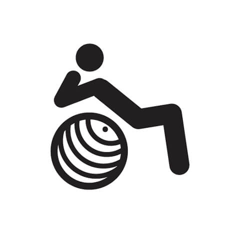 Black and White Symbol Of Person Doing Sit Ups