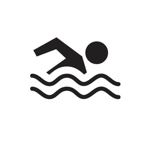 Black And White Swimming Symbol