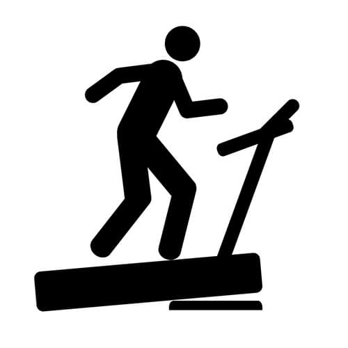 Symbol Of Person On Treadmill
