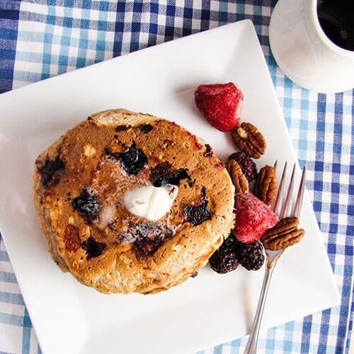 Pancakes With Fruit And Nuts