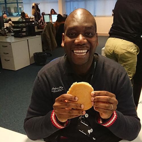 Espares Team Enjoying Pancakes