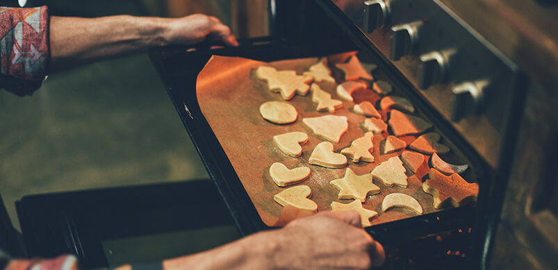 Biscuits Baking In Oven