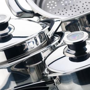 Set of Stainles Steel Saucepans