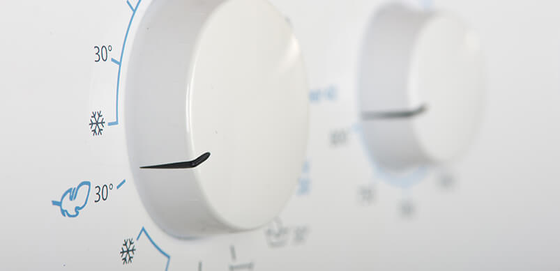 Close-up Of Tumble Dryer Control Panel