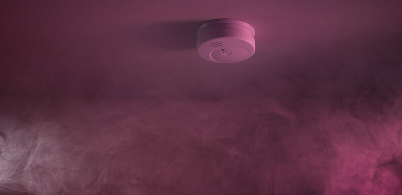 Smoke Alarm With Smoke Gathering Around