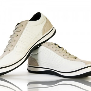 White Sport Trainers On White Background