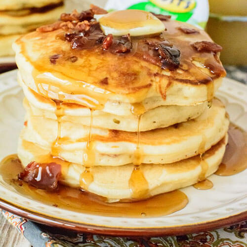 Maple Syrup And Bacon Pancakes