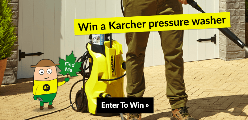 Banner For Pressure Washer Competition With Image Of Prize
