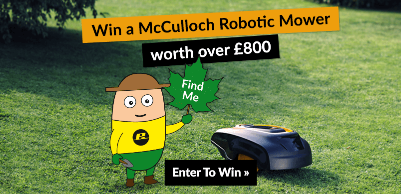 Banner For Competition With Image Of Robotic Mower