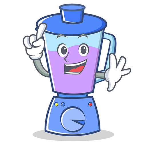 Food Blender Cartoon With Smiling Face