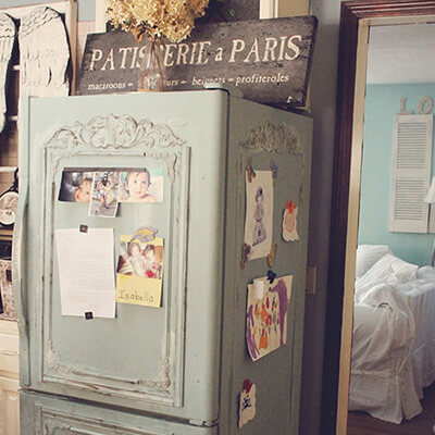 Vintage Paris Style Fridge With Photos