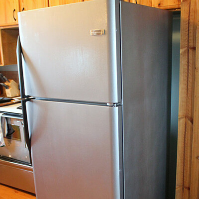 Fridge With Stainless Steel Paint