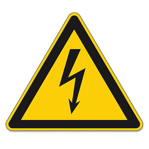 Danger Sign With Electricity Bolt