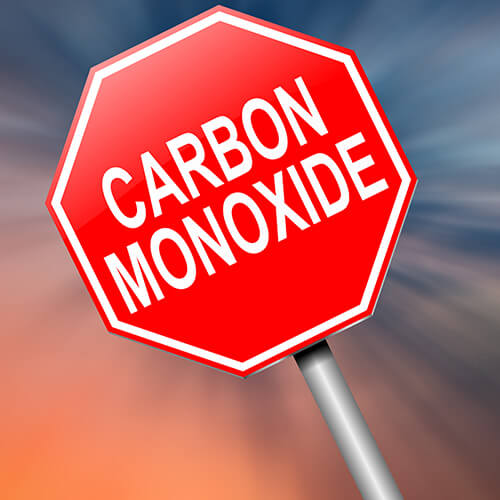 Carbon Monoxide Red Danger Sign