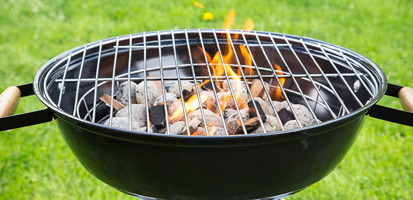 Barbecue With Coal And Fire
