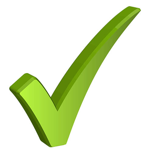 Green Tick Sign On White Background
