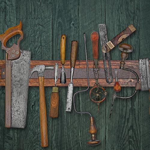 Work Tools On Magnetic Rack