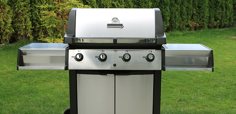 Stainless Steel Barbecue Outdoors