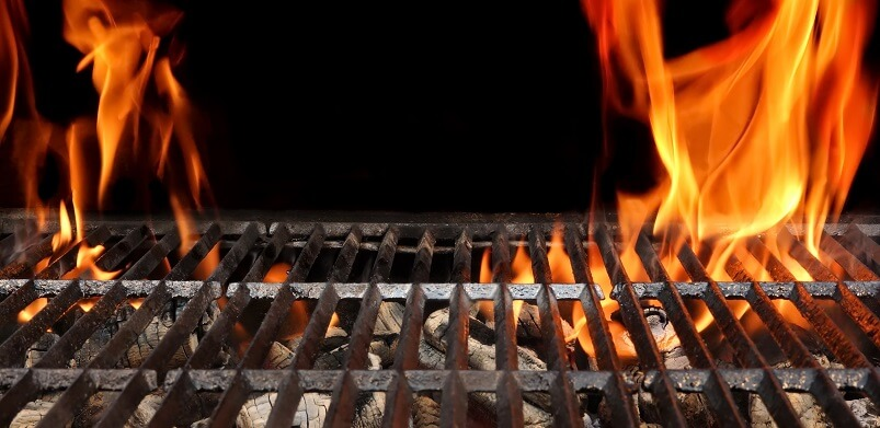 Close Up Of Barbecue Racks