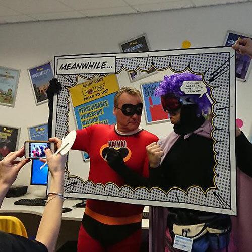 Team In Selfie Frame