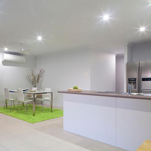 Light Green Rug In Kitchen