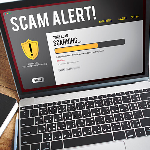 Laptop Scanning For Scam