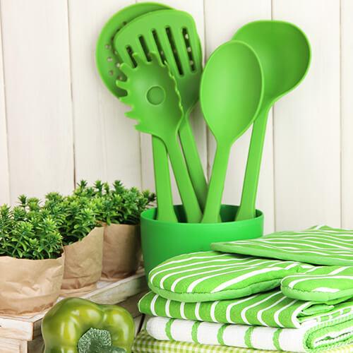 Light Green Kitchen Utensils