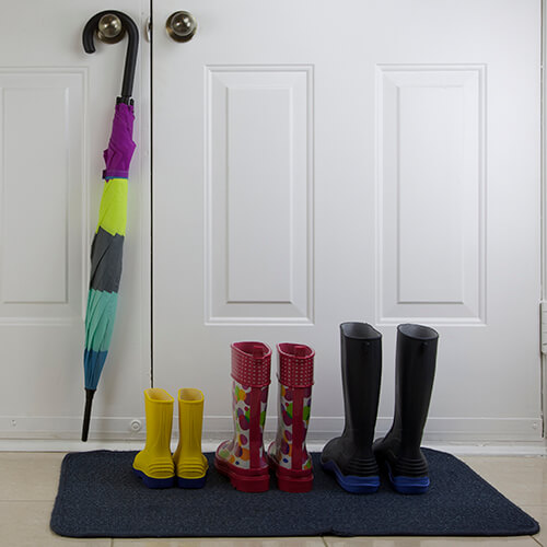 Wellies Lined Up By Door