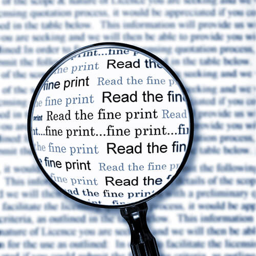 Magnifying Glass Reading The Fine Print