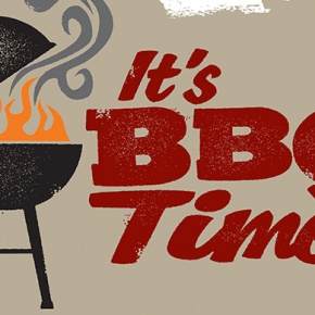 BBQ Image With Words It's BBQ Time