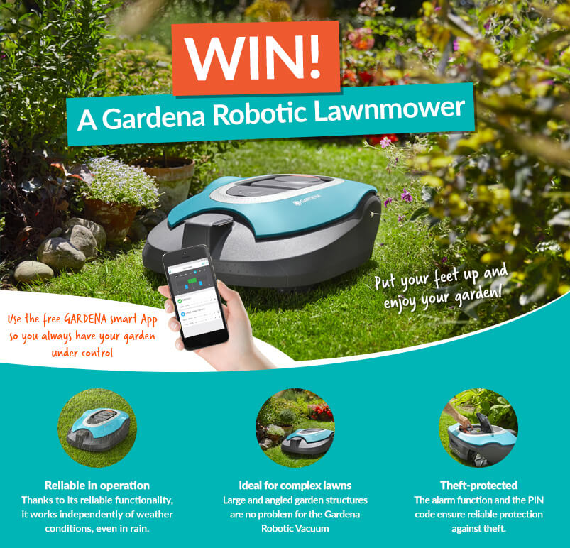 Competition Banner To Win Robotic Lawnmower