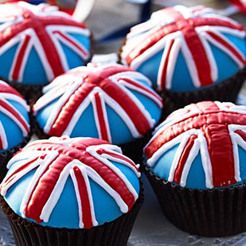 Cupcakes With Union Jack Icing