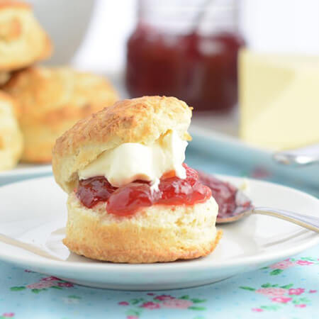 Scones Filled With Jam And Clotted Cream