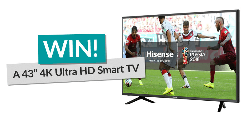 Image Of Smart TV With Win Banner
