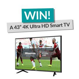 Win a 43 Inch Hisense Smart TV! [Competition Closed]