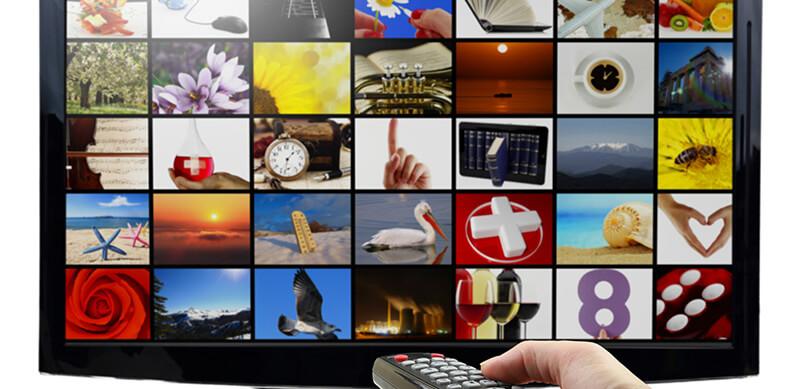TV Screen With Photos