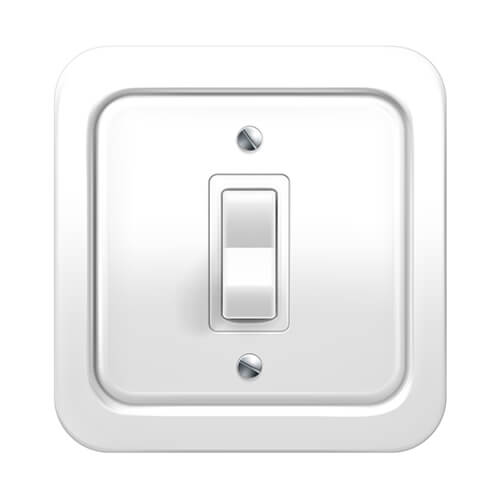 White Light Switch Pointing Down
