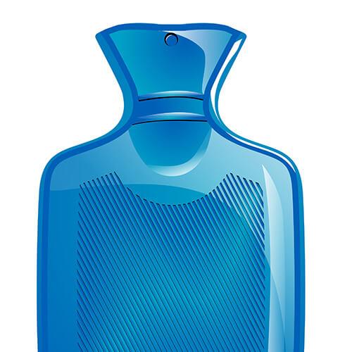 Blue Hot Water Bottle