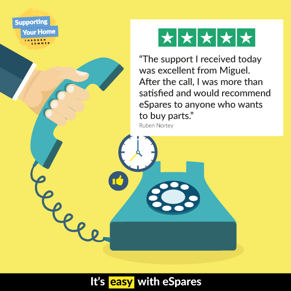 Customer Comment On Yellow Background With Image Of Telephone