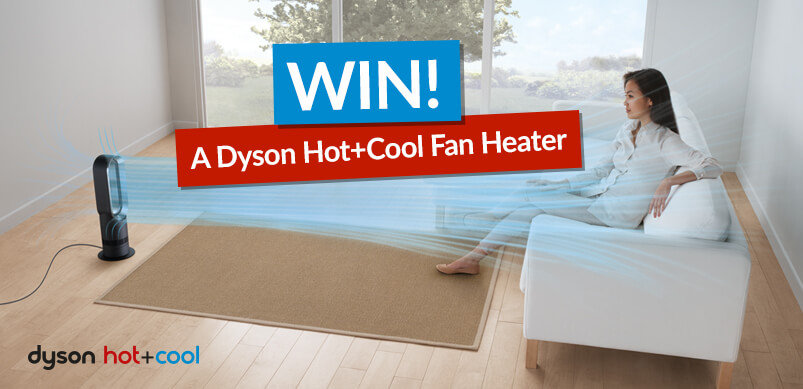 Dyson Fan Inside A Home With Win Banner