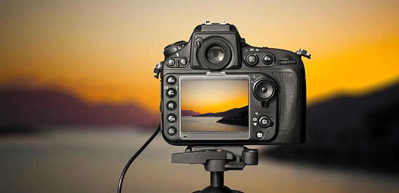 GoPro Taking Photo Of Sunset